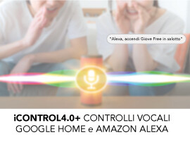 iCONTROL4.0+ CONTROLLI VOCALI GOOGLE HOME E AMAZON ALEXA
